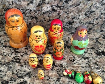 Matryoshka Doll Lot of Fifteen