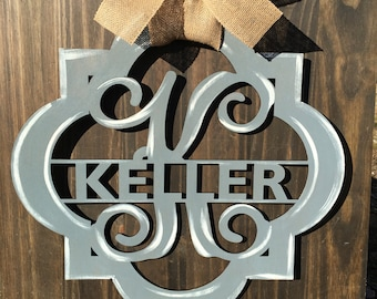 Quatrefoil door hanger, monogram door hanger, name door hanger, monogram, personalized door hanger, door hanger, personalized gifts, custom