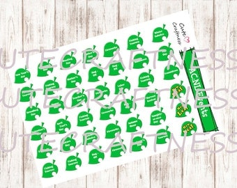 Animal crossing event date Europe and America Planner stickers
