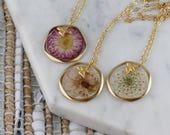 Real flower necklaces