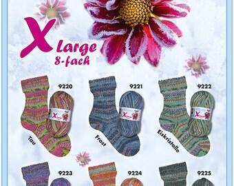 Opal Eisblume,  Double Knitting, 8ply Sock Yarn, 150g ball, 75% wool
