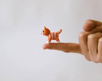 Ginger Cat Miniature, Kitten Miniature, Cat Miniature, Ginger Kitten Miniature, Crochet Cat, Crochet Kitten, Crochet Miniature