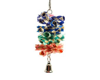 Mini Crunch It - Small Bird Toy Parrot Toy Shreddable Chew Toy for Pet Birds