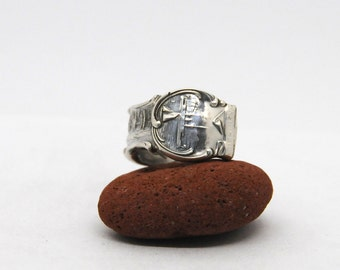washington state ring,  sterling silver ring, united states ring, american ring, spoon ring