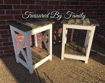Farmhouse Style End table/Night Stands