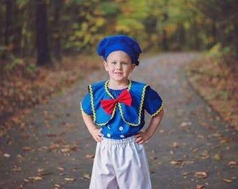 Donald Duck outfit, Boy Donald Duck, Donald Duck shorts and top, Donald Duck Hat