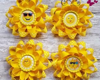 Hair Bow, Sunny Sunshine