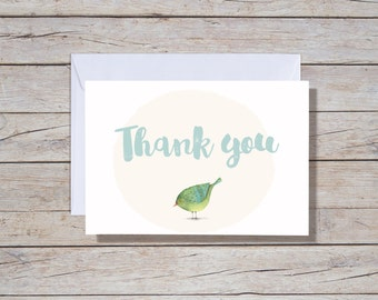Thank you - A6 Greeting Card, Thank you cards,