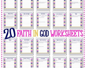 Faith In God - 20 Worksheets - Instant Download