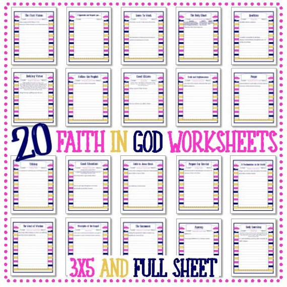 Worksheet Faith Worksheets faith in god 20 worksheets instant download download