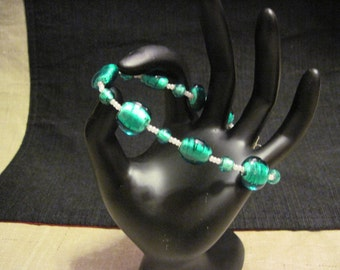 Emerald Glass Bracelet