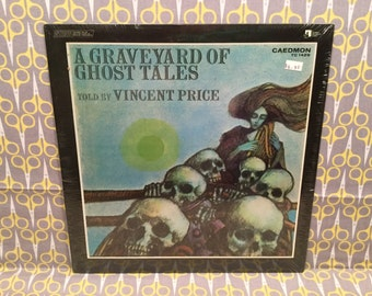 Sealed A Graveyard of Ghost Tales read by Vincent Price Vinyl Record LP Album Halloween Kids Record
