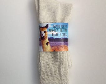 Alpaca Non-Binding, Diabetic Sock, Non-Restricitive, Alpaca Socks Made in the USA by Our Local Fiber Co-Op, Socks for Men, Socks for Women