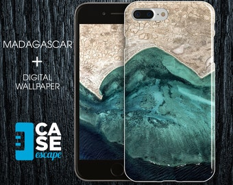 Geo Collection x Madagascar Phone Case, iPhone 7, iPhone 7 Plus, Protective iPhone Case, Galaxy s8 Nature River Ocean Maps CASE ESCAPE
