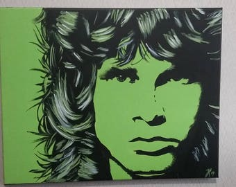 Lizard King 16x20 Acrylic Painting on Canvas / Jim Morrison Painting / OOAK Acrylic painting on canvas / art / wall art / canvas painting