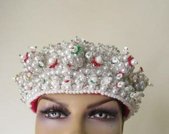 Handmade Hungarian beaded crown, traditional Hungarian costumes PARTA Headdress from Transylvania , Hungarian costume's parta crown