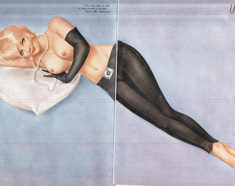 Vintage 1970's VARGAS Pin up in good condition 400 x 280 mm's Playboy Magazine