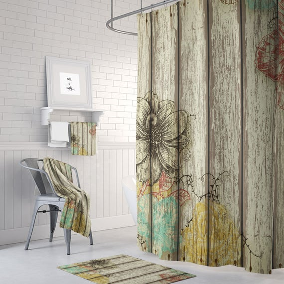 Farmhouse Shower Curtain Rustic