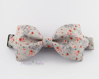 """Bow-tie """"Pompadour gray"""" Sewn hand in small series"""