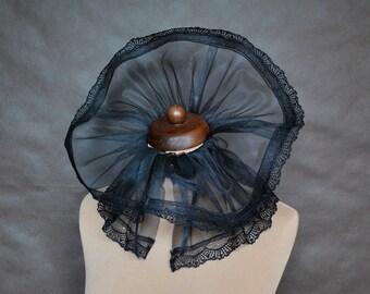 Elegant GOTHIC CHOKER GORGET mist vampire costume Glamour, big effective collar black,  beautiful adornment, Halloween, witch, prom