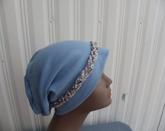 Hair Loss Turban,Chemo Hat,Floral Turban,Brown Turban,Brown Floral Turban, Slouch Hat, Fashion Hat, Stretchy Slouch Hat, Multi Colored Hat