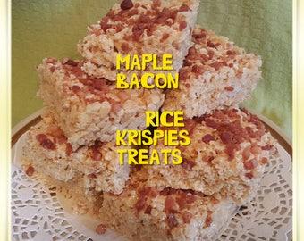MAPLE BACON Rice krispy treats gourmet 1 dozen