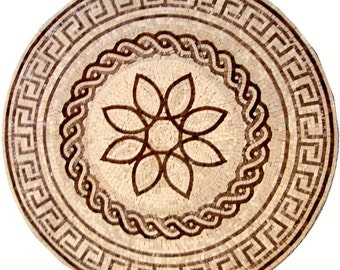 Marble Floral Roman Mosaic - Jovita