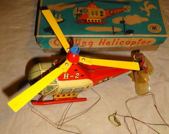 1950s Circling Helicopter H-2 by Modern Toys Japan w/box