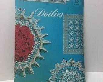 Lily Doilies Crochet Patterns Design Book No 201, Doilies, Pineapple Doily,Crochet Cotton,Chair Set, Table Doily, Vanity Doily Vintage 1960