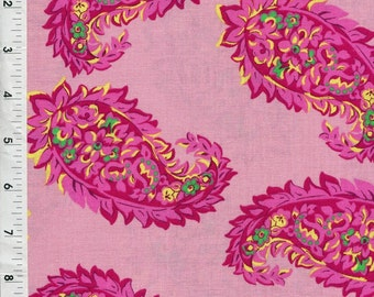 "Cranston ""Paisley Bouquet"" Pink Flowers Modern Fabric"