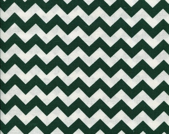 Chevron Zig Zag Hunter Green Fabric