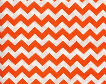 Chevron Zig Zag Sunkissed Orange Fabric