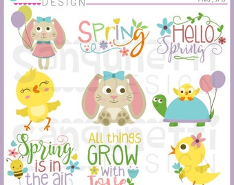 Easter Clipart Cute Graphics PNG Spring Animals Clip art