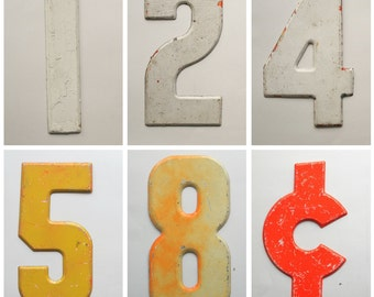 Vintage Metal Numbers / Marquee Signage / Industrial / Store Signs / Giant Numbers