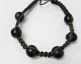 Woven Black Bead Bracelet GJ1