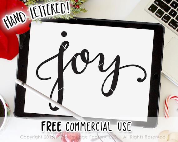 Joy Svg Cut File Hand Lettered Silhouette Cricut