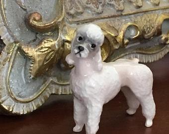 Vintage Miniature tiny pink poodle figurine figure