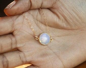 Opal Necklace, Dainty Necklace, Opal Pendant, October Birthstone Necklace, Birthstone Necklace, Opal Jewelry, Opal, October Birthstone