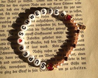 Super sister Bracelet made of beads