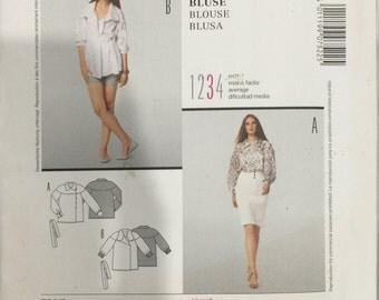 Burda Pattern 7522 Women's Blouse Size US 10 - 24