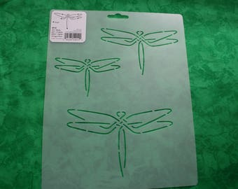 Quilt Stencil, Dragonfly Motif in Three Sizes, Dragonflies Pattern, Lazy Summer Quilting Project, Template for Embroidery Project RF10
