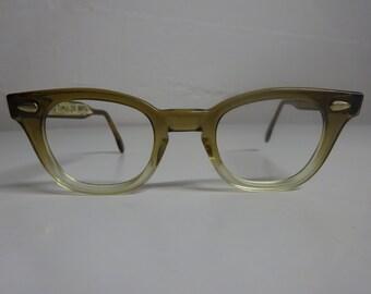 Vintage 50's American Optical Rockabilly Eyeglass Frames, Cat Eye Glasses, Buddy Holly Eyeglasses, Mad Men eyeglass Frames  - FREE SHIPPING
