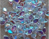 PIP Beads, 7mm x 5mm, Crystal AB, 00030/28701, sold in units of 100 beads.