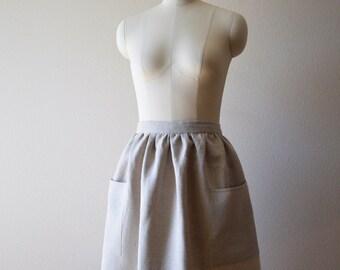 Linen Gathered Skirt Apron