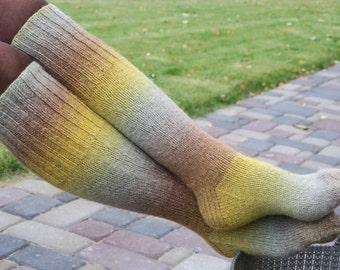 Wool Socks | Knee High socks | Knitted Boots Socks | Multicolor Socks | Winter Sports Leg warmers |Size:39-41(EUR);5,5-7,5(UK); 7,5-9,5(US)