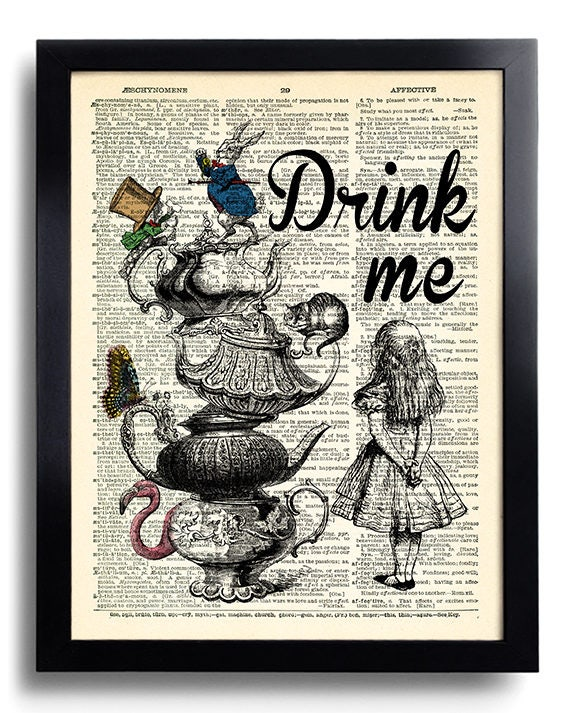 Alice In Wonderland Wall Art alice in wonderland wall art poster art alice in wonderland