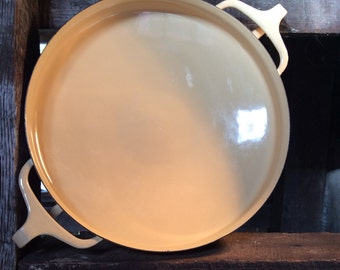 Vintage Dansk Paella Pan, Dansk Designs France, Enameled Pan, Enameled Casserole Pan, Paella Pan