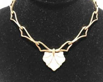 Monet Vintage Enamelware Necklace Gold tone