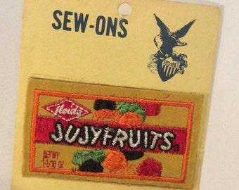 Vintage JUJY Fruits candy sew on Patch