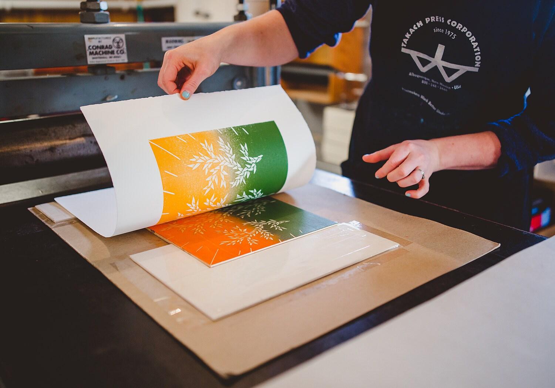 Blend rolls printing technique
